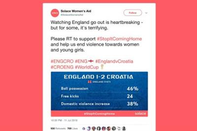 Why Solace Women's Aid got #StopItComingHome trending in the World Cup