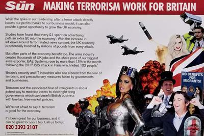 The Sun attacked in hoax rate card promising sensationalised terrorism coverage
