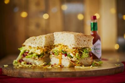 Tabasco takes Christmas breakfast sandwich on UK tour