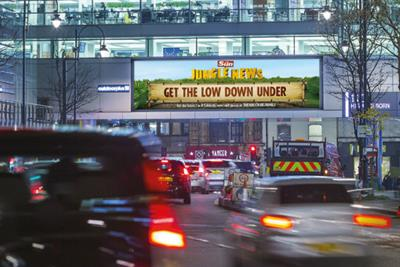 The Sun rolls out dynamic I'm a Celebrity outdoor push
