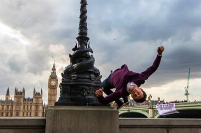 In pictures: Parkour group scales London buildings in latest TransferWise stunt