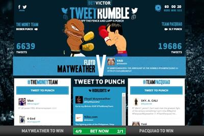 BetVictor encourages fans to tweet to throw a punch in Pacquiao v Mayweather fight