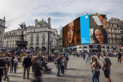 Twitter to appear for the first time on Piccadilly Lights