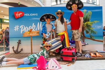 In pictures: Virgin Holidays' Caribbean experience hits local shopping centres