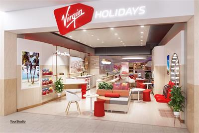 Virgin Holidays creates largest store with spa, bar and rollercoaster simulator