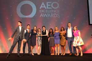 In pictures: Jimmy Carr and Troy entertain at AEO Excellence Awards 2014