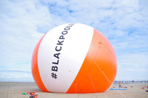 Bloon brings giant beach ball stunt to Blackpool