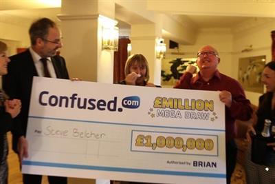Event TV: Confused.com rewards customer in £1m stunt