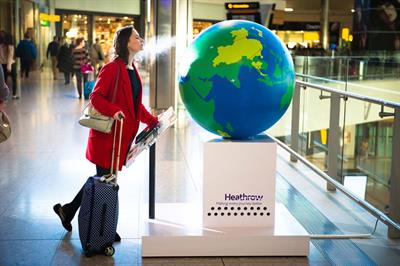 In pictures: Heathrow launches scent destination installation