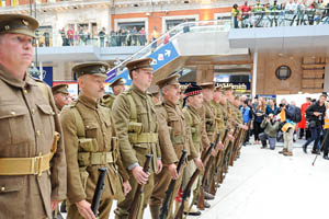 In pictures: Network Rail organises soldier stunt for WW1 centenary