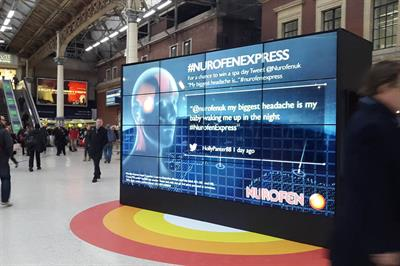 In pictures: Nurofen Express activates at London Victoria