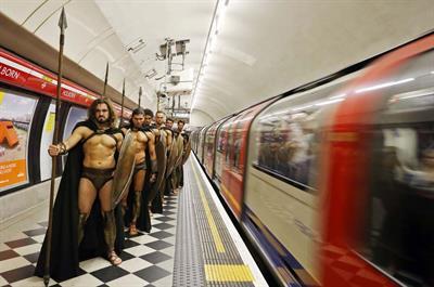 In pictures: Warner Bros creates Spartan stunt in London