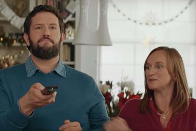 Waitrose family fast-forwards through John Lewis ad in Christmas crossover