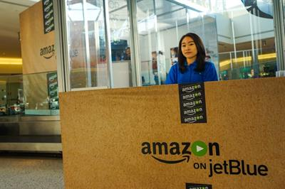 Global in pictures: Amazon launches JetBlue partnership with pop-up movie theatre
