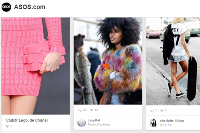 Asos hints at buy button trials on Instagram and Pinterest