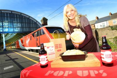Virgin Trains pop-up features beer-inspired bread