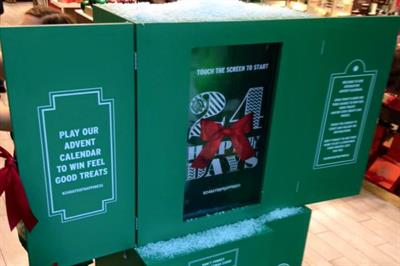 The Body Shop merges digital and experiential with giant advent calendar