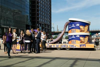 In pictures: Cadbury creates giant biscuit tin for experiential tour