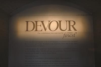 Inside Tesco Finest's edible exhibition 'Devour'