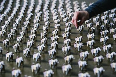 Origami dogs made of £10 notes to be let loose in Bristol