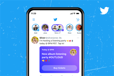 Twitter joins live audio platform race by opening Clubhouse rival Spaces