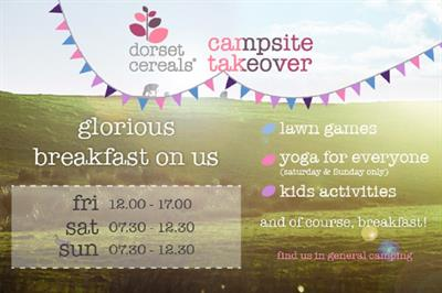 Dorset Cereals to host campsite takeover at Cornbury Music Festival