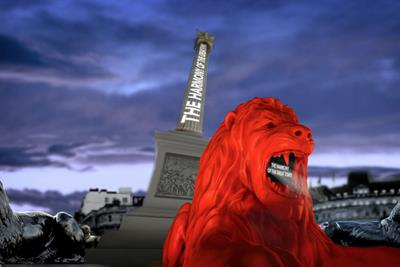 Es Devlin creates machine-learning lion that roars poetry at Trafalgar Square