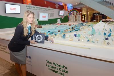Event TV: Fairy and Make A Wish create world's largest cake sculpture