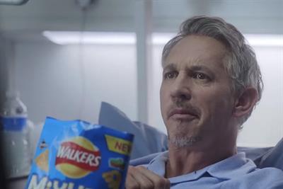 Bedridden Gary Lineker takes ad top spot for Walkers Mixups