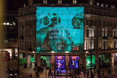 Event TV: H&M's 3D projection for World Recycle Week