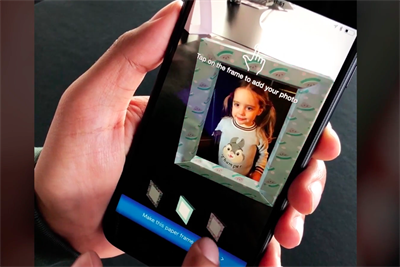 HP shows off printer capabilities with an AR app that places virtual photo frames in the home