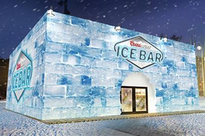 Coors Light debuts ice bar in Brixton