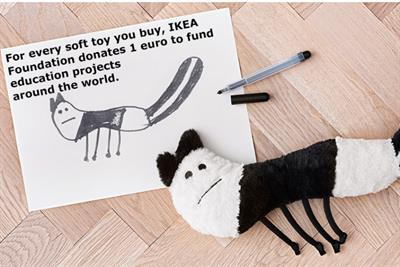 Ikea turns adorable kids' drawings into stuffed toys