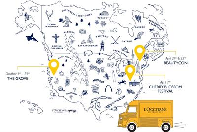 L'Occitane hits US roads with beauty truck