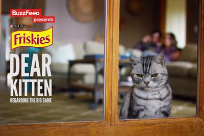 Buzzfeed and Friskies in purrfect harmony for Super Bowl viral