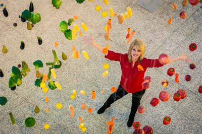 In pictures: Joanna Lumley launches 'Eat the Rainbow' campaign for M&S