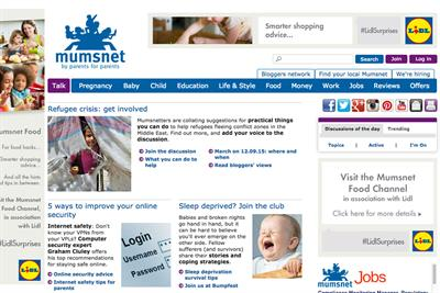 Lidl enters into sponsorship of Mumsnet website