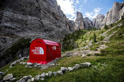 The North Face creates pop-up store in Italian Alps