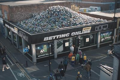 GambleAware's 'disappearing balls' ad highlights problem-betting in football