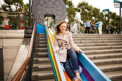 Oreo's multi-coloured Wonderfilled slide heads to Manchester