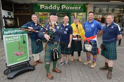 Paddy Power devises bagpipe friendly zone at Rugby World Cup