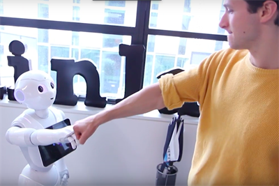 Why, if you visit Brainlabs, you'll be welcomed at reception by Pepper the robot