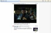 Video advertising streamed into Facebook newsfeeds