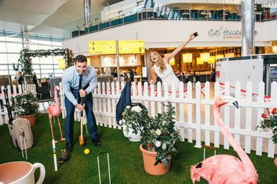 Event TV: Pimm's unveils croquet course at Heathrow