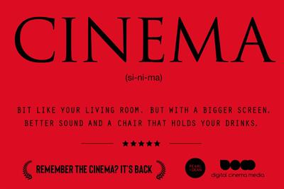 UK ad industry joins forces to support the return of cinema