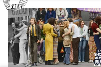 Skittles brings historic LGBT+ archive images to life in 'Recolour the rainbow' campaign