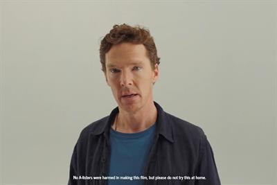 Judi Dench sucks Benedict Cumberbatch's face in Red Nose Day ad