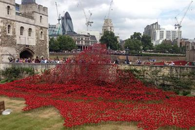 Tower of London draped in poppies to mark First World War centenary