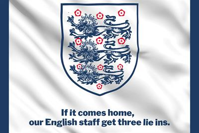Publicis Dublin to give English staff 'three lie-ins' if England wins the Euros