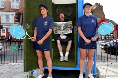 Bathstore creates luxury toilet activation for Wimbledon